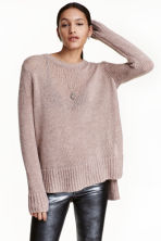 Knitted jumper - Old rose - Ladies | H&M CN 1