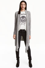 Knitted cardigan - Grey - Ladies | H&M CN 1