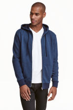 Hooded jacket - Dark blue marl - Men | H&M CN 1