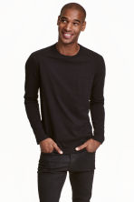 Long-sleeved T-shirt - Black -  | H&M CN 1