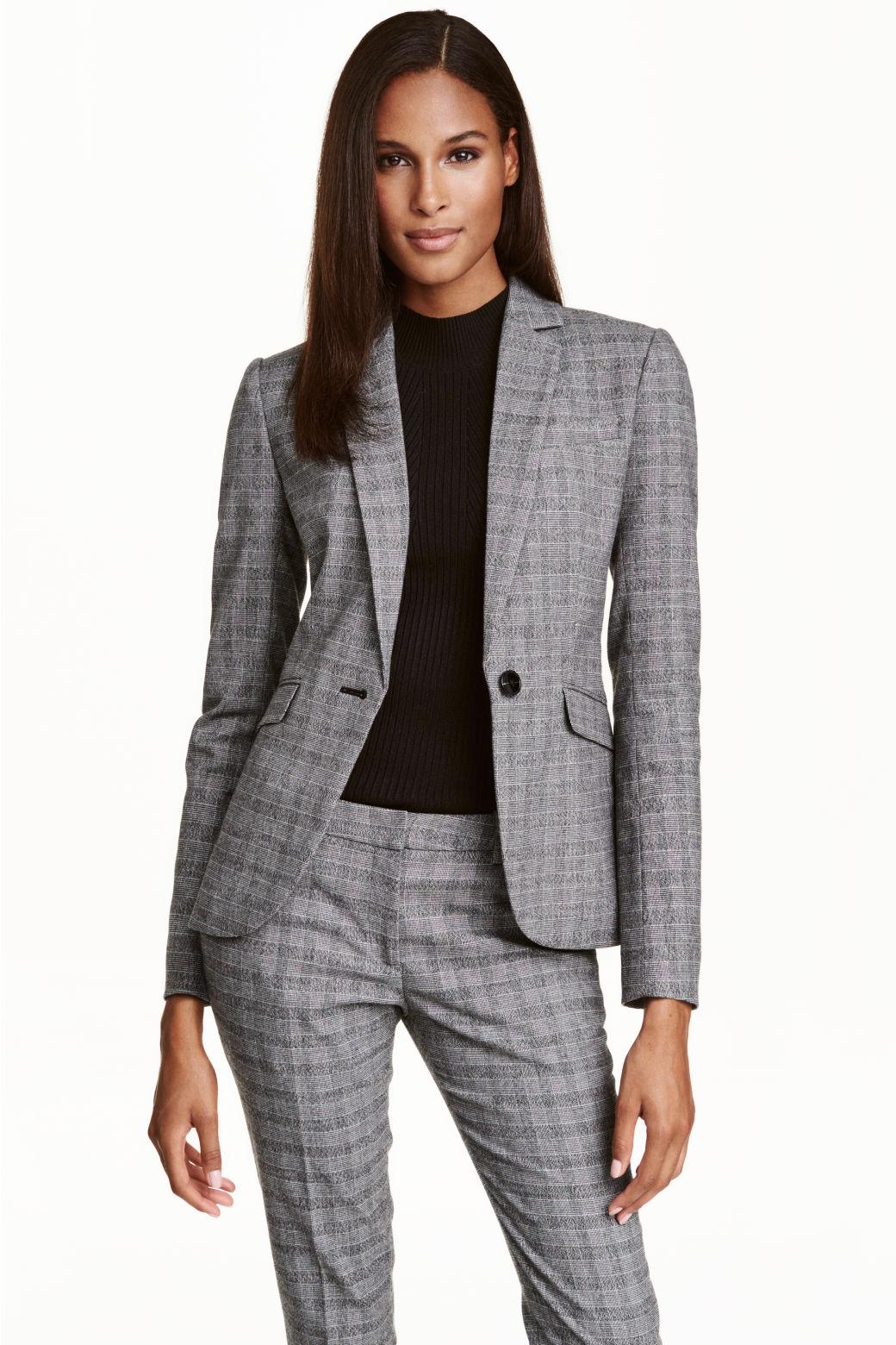 Trabajo formal para mujer Pantalones de traje negro gris