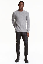 Slim Low Coated Jeans - Black - Men | H&M CN 1