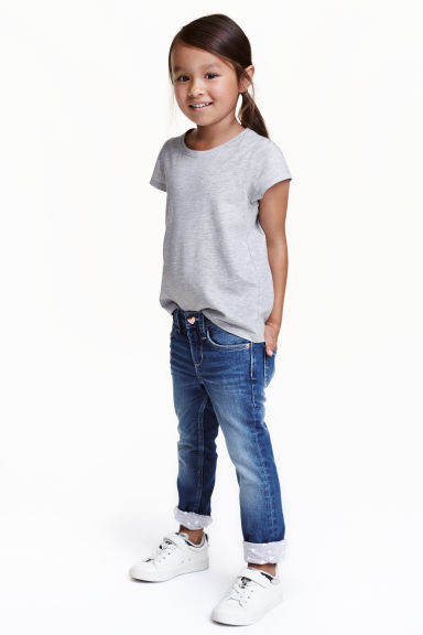 Slim Lined Jeans - Denim blue - Kids | H&M CN 1