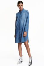 Oversized denim shirt - Denim blue - Ladies | H&M CN 1