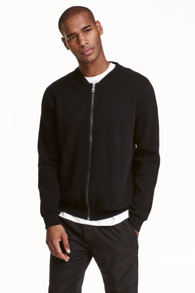Zipped cardigan - Black - Men | H&M CN 1