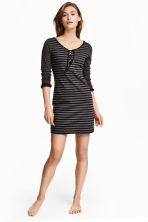 Jersey nightdress - Black/Striped - Ladies | H&M CN 1