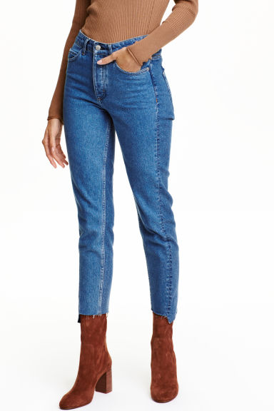 Straight High Jeans - Denim blue - Ladies | H&M GB