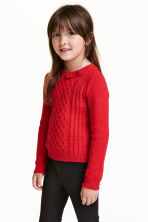 Jumper with appliqués - Red/Glitter - Kids | H&M CN 1