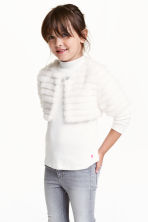 Faux fur bolero - White - Kids | H&M CN 1