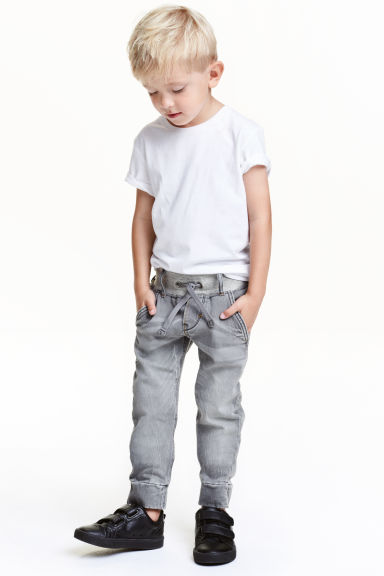 Denim joggers - Grey - Kids | H&M CN 1