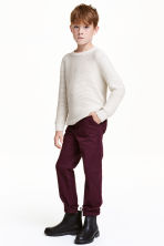 Slim fit Chinos - Burgundy - Kids | H&M CN 1
