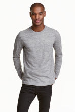 Long-sleeved T-shirt - Grey marl - Men | H&M CN 1