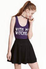 Printed body - Dark purple/Witch - Ladies | H&M GB 1