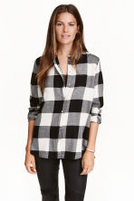 法蘭絨襯衫 - Black/Checked - Ladies | H&M 2