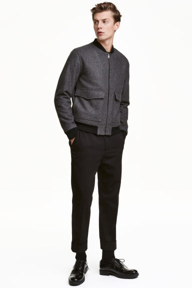 Suit trousers in twill - Black - Men | H&M CN 1