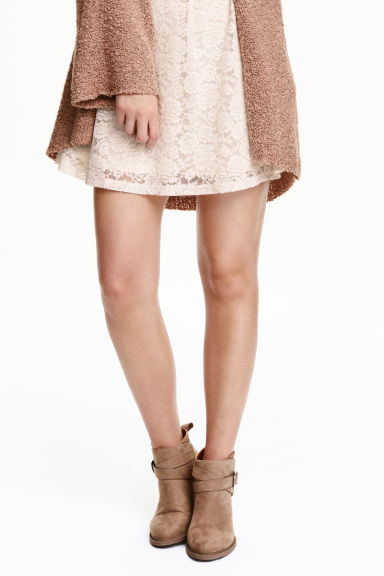 Suede boots - Light brown - Ladies | H&M CN 1