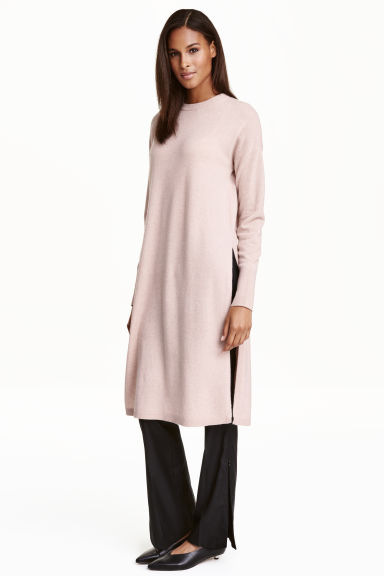 Long cashmere jumper - Powder pink marl - Ladies | H&M CN 1