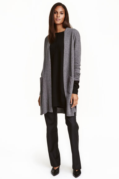 Cashmere cardigan - Dark grey marl - Ladies | H&M CN 1
