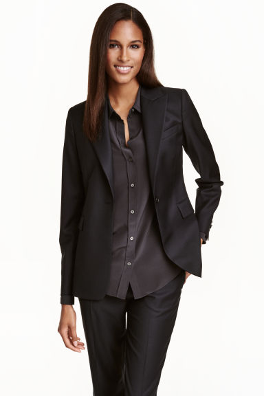 Wool jacket - Black - Ladies | H&M CN