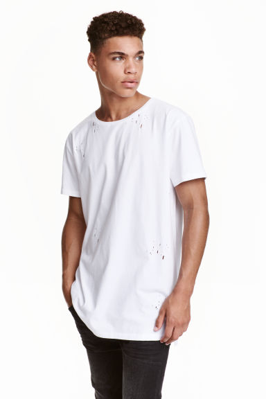 Trashed T-shirt - White - Men | H&M CN 1