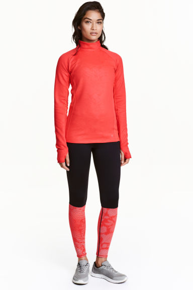 Running tights - Black/Coral - Ladies | H&M CN 1