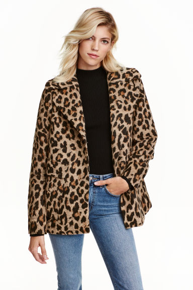 Patterned jacket - Leopard print - Ladies | H&M CN 1
