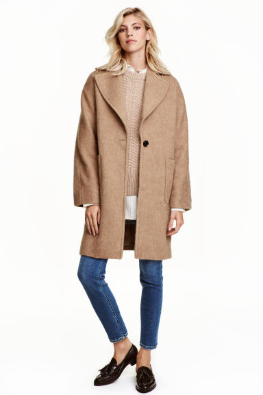 Wool-blend coat - Beige - Ladies | H&M 1