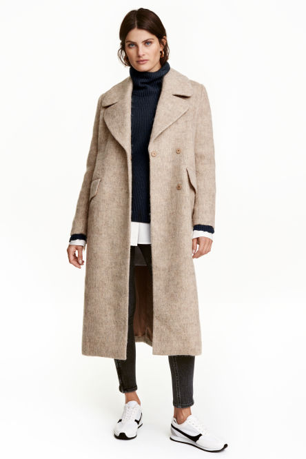 Coat in a wool blend