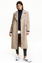Wool-blend coat - Light beige marl - Ladies | H&M CN 1
