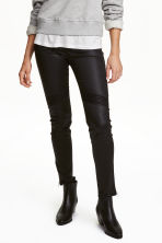 Skinny Ankle Biker Jeans - Black/Coated - Ladies | H&M GB 1