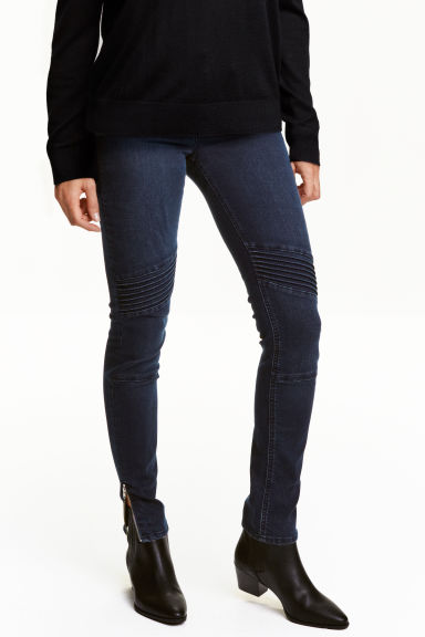 Skinny Ankle Biker Jeans - Dark denim blue - Ladies | H&M CN 1