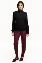 Wide trousers - Plum - Ladies | H&M CN 1