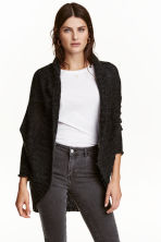 Loose-knit cardigan - Dark grey marl -  | H&M CN 1