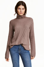 Pullover a coste a collo alto - Talpa - DONNA | H&M IT 1