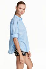 Cotton shirt - Light blue - Ladies | H&M CN 1