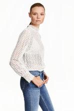 Lace blouse - White - Ladies | H&M GB 2