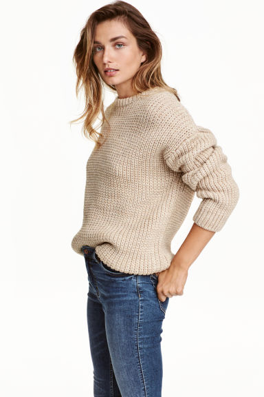 Chunky-knit jumper Model