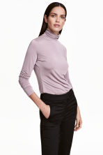 Polo-neck top - Heather purple - Ladies | H&M CN 1
