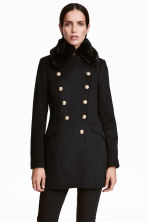 Double-breasted jacket - Black - Ladies | H&M CN 1
