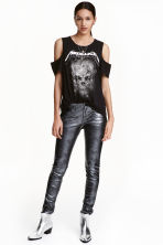 Imitation leather trousers - Dark grey - Ladies | H&M CA 1