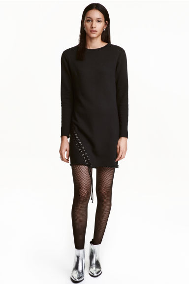 Sweatshirt dress - Black -  | H&M GB 1