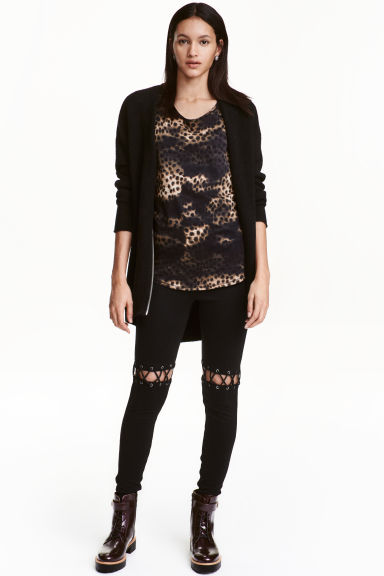 Leggings con lacci - Nero - DONNA | H&M IT 1
