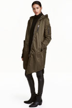 Long bomber jacket - Khaki green -  | H&M CN 1
