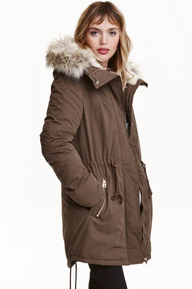 Padded parka - Olive - Ladies | H&M CN 1
