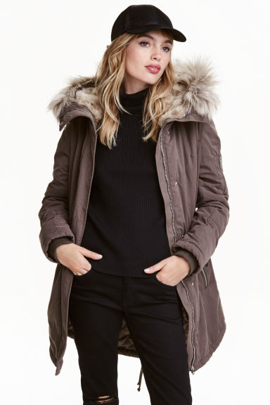 Padded parka - Brown - Ladies | H&M CN