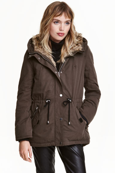 Parka imbottito - Marrone scuro - DONNA | H&M IT 1