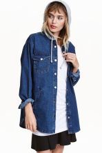 Giacca-camicia con cappuccio - Blu denim -  | H&M IT 1