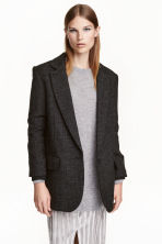 Wool-blend jacket - Dark grey - Ladies | H&M CN 1