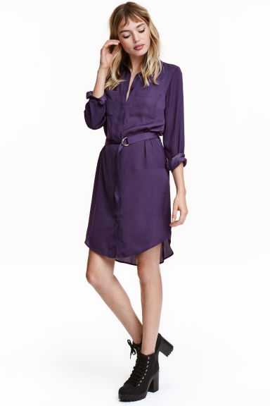 Chemisier in satin - Viola scuro - DONNA | H&M IT 1