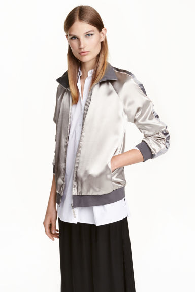Block-coloured jacket - Silver - Ladies | H&M CN 1